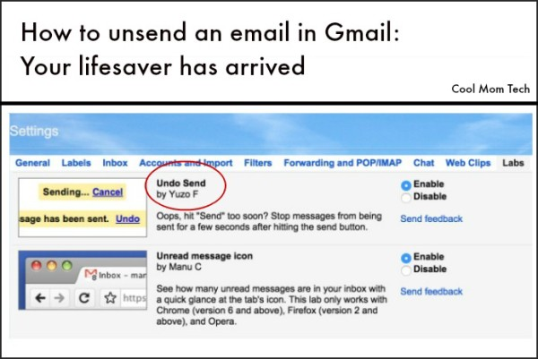 How to unsend email in Gmail | Cool Mom Tech