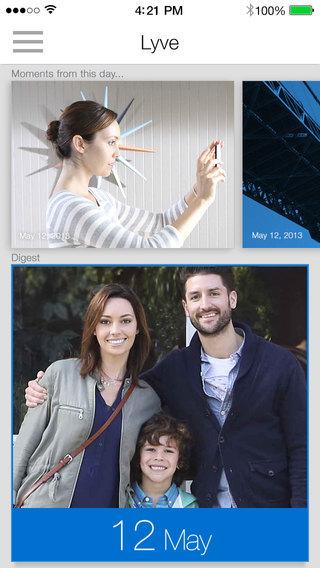 Lyve app for photo organization