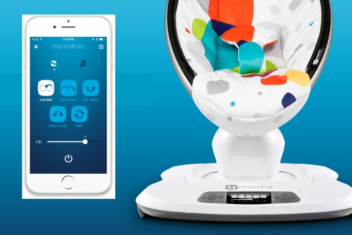 The new, tech-savvier 4moms mamaRoo infant seat: Prepare for more naps in your future, new parents.