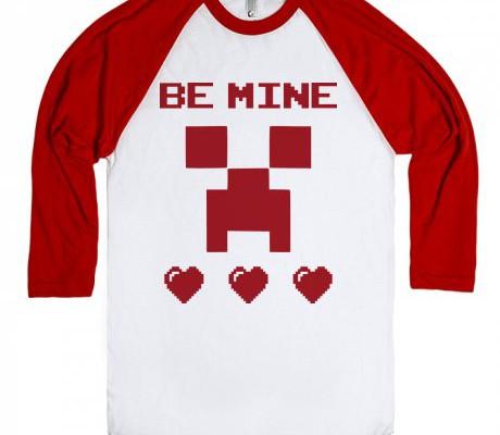Minecraft Valentine's Day tee for kids