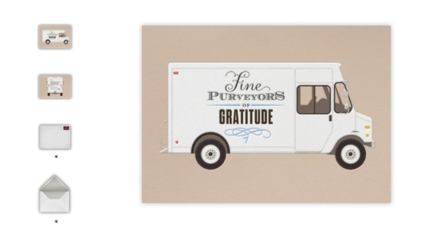 Online thank you notes from top designers at Paperless Post
