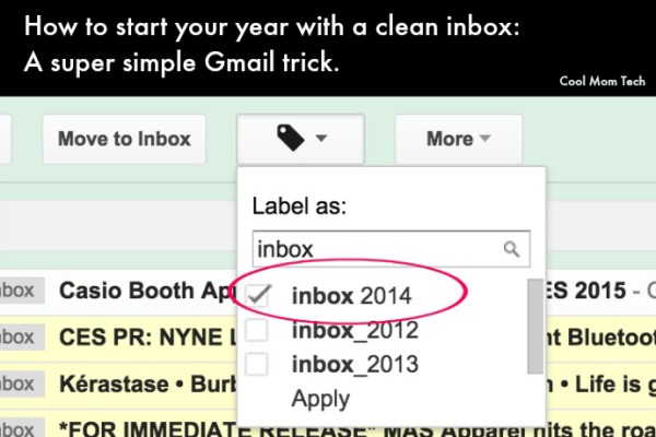 Simple trick to clean out your inbox for a fresh start to the new year