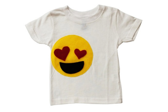 Emoji movie gear and activities: Handmade Emoji tee for toddlers and babies | Mi Cielo on Etsy