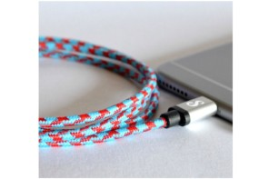Colorful charging cables because OH NO, NOT BORING CABLES.
