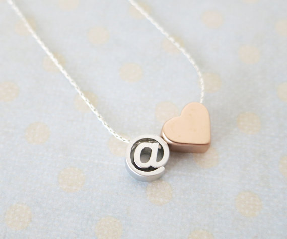 @ Heart -necklace from Color Me Missy on Etsy