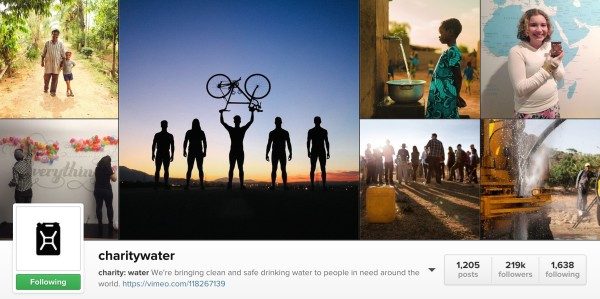 Instagram feeds to make you happy: Charity Water