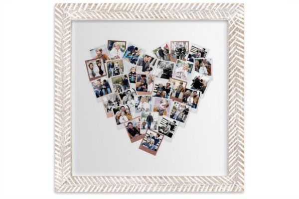 The Heart Snapshot Mix from Minted makes a cool Valentine's photo gift.