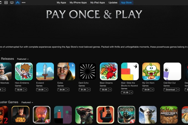 iTunes Pay Once and Play: A list of the best games without in-app purchases