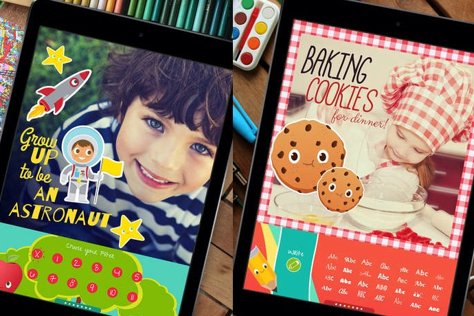 The Typic Kids app helps kids become awesome photo editors and designers! Look out, Instagram!