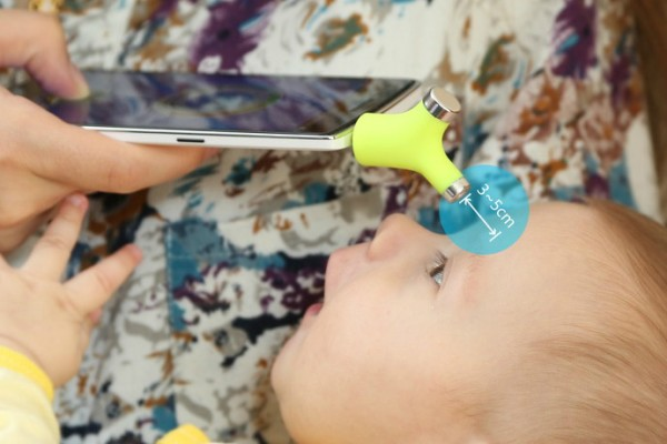 The Wishbone thermometer can accurately take your child's temperature in two seconds.