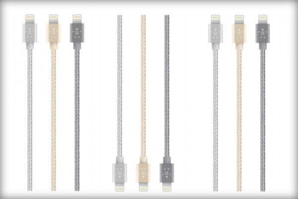 Belkin MIXIT metallic cables now match your MacBook or iDevices