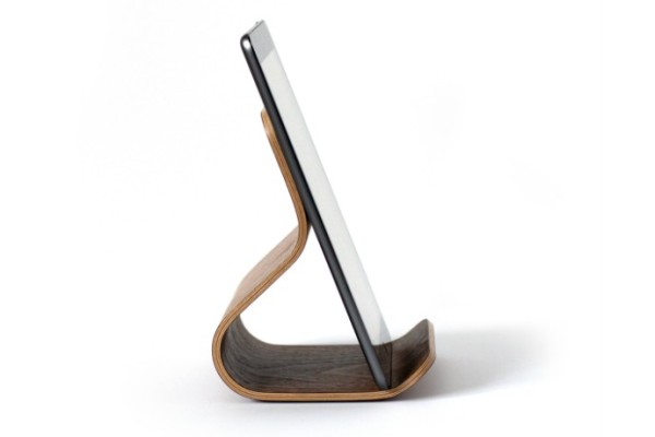 Ciseal's Ray bent plywood iPad and tablet stand