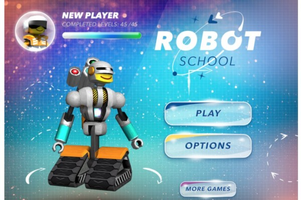 Robot School is a cool coding app where kids can solve problems using code