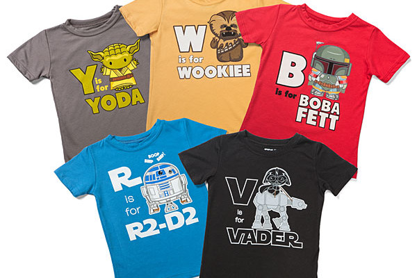 S is for Star Wars toddler tees at Think Geek
