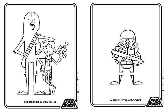 A printable Star Wars coloring book made free: Kindness that gives the world a new hope.