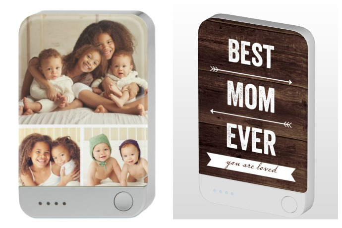 Personalized battery chargers from Shutterfly: Cool First Mother's Day Gifts