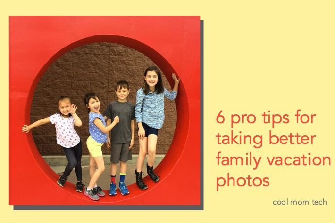 Tips from a pro for taking better family vacation photos. Good timing, right?