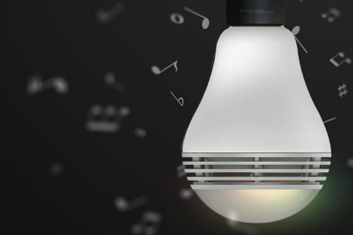 The smart bulb with a speaker built right in: A bright new trend in mash-up technology.