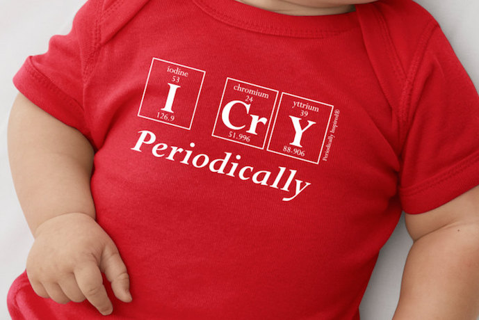 Geeky baby onesies that spell future genius