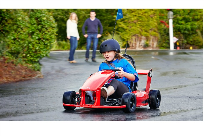 A new go-kart for kids you control with your phone. Whoa!