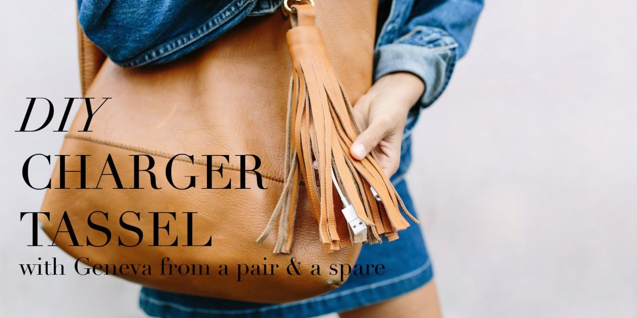 A DIY tassel charger that you can really DIY. Promise.