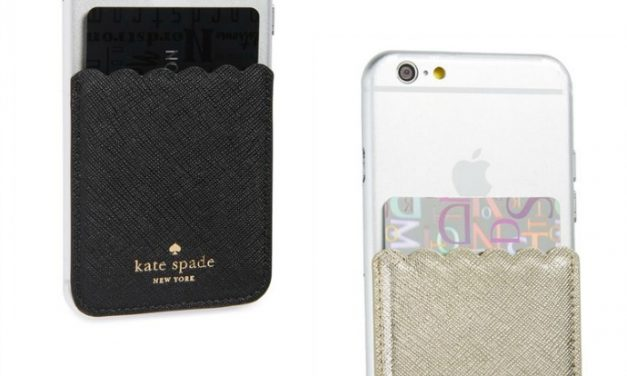 Add a pocket to your iPhone case. Thanks, Kate Spade.