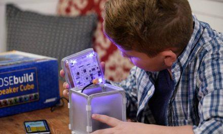 BOSEbuild Speaker Cube: A DIY Bluetooth speaker kit for kids that totally rocks. Yay STEM!
