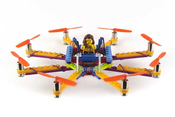 Flybrix kits let kids build their own LEGO drones. Then crash them. Then build them again.