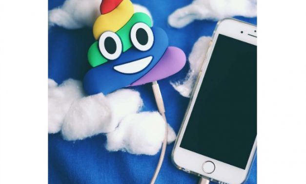 Charge your smart phone with poop. Emoji, that is.