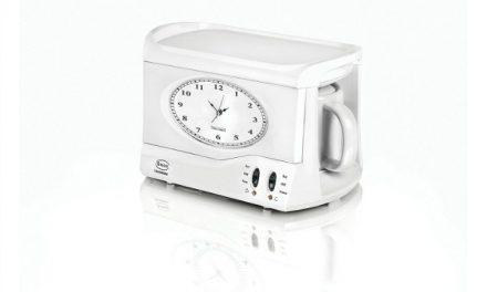 Teasmade: An alarm clock that brews your tea. Jolly good!