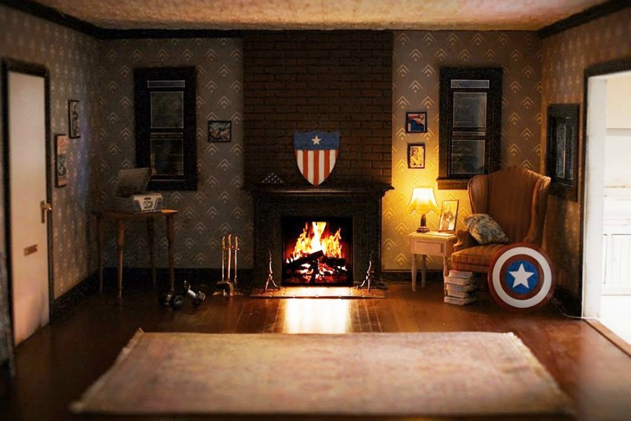 Chestnuts roasting over Iron Man's open fire