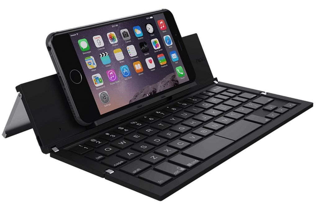 Great travel tech gifts: Zagg wireless pocket keyboard folds up so small!