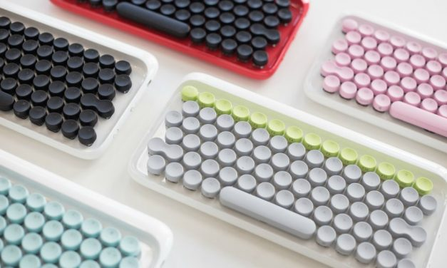 The Lofree looks like a keyboard, but sounds and feels like a typewriter