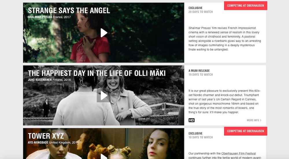 Best alternate legal streaming services: Mubi