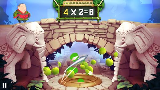 Best math apps for kids: Fruit Ninja Academy: Math Master