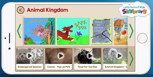 Best reading apps for kids: LeVar Burton Kids Skybrary