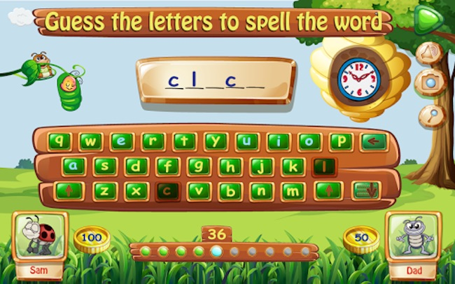 Best reading apps for kids: Spelling Bug Hangman