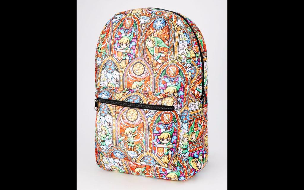 Legend of Zelda Stained Glass Link backpack, now on sale! | cool gamer back to school gear | coolmomtech.com