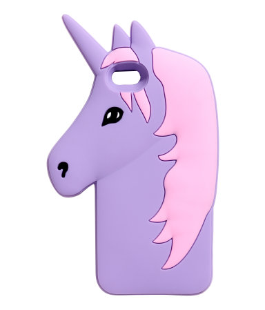 Unicorn iPhone cases: Silicone unicorn case at H&M