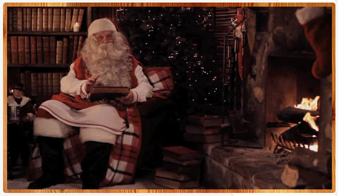 A personalized Santa video for kids with a Portable North Pole that's really, truly portable