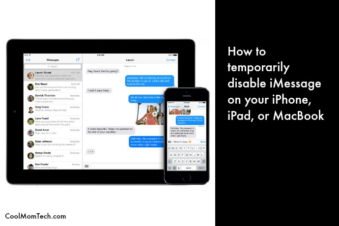 Tech productivity tip: How to temporarily disable iMessage on your iPhone, iPad, or MacBook