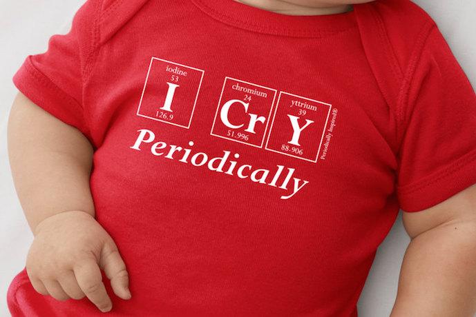 Geeky baby onesies that spell future genius