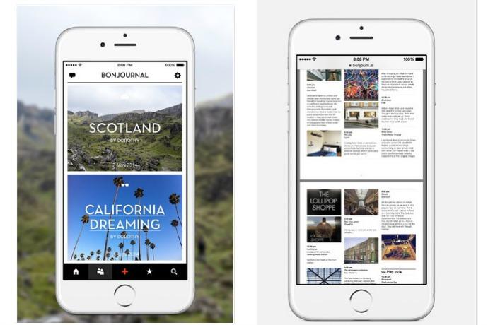 Bonjournal travel journal | Cool free app of the week