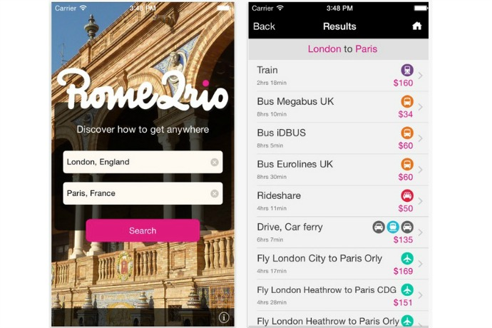 Rome2rio travel app: Our cool free app of the week