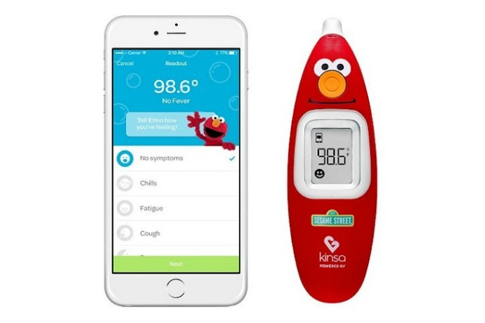 Elmo want to take your kid's temperature with this new smart thermometer!