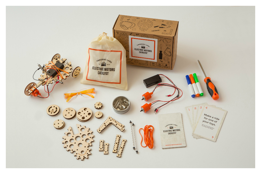 Best STEM gifts for kids: Electric Motors Catalyst box by Tinkering Labs