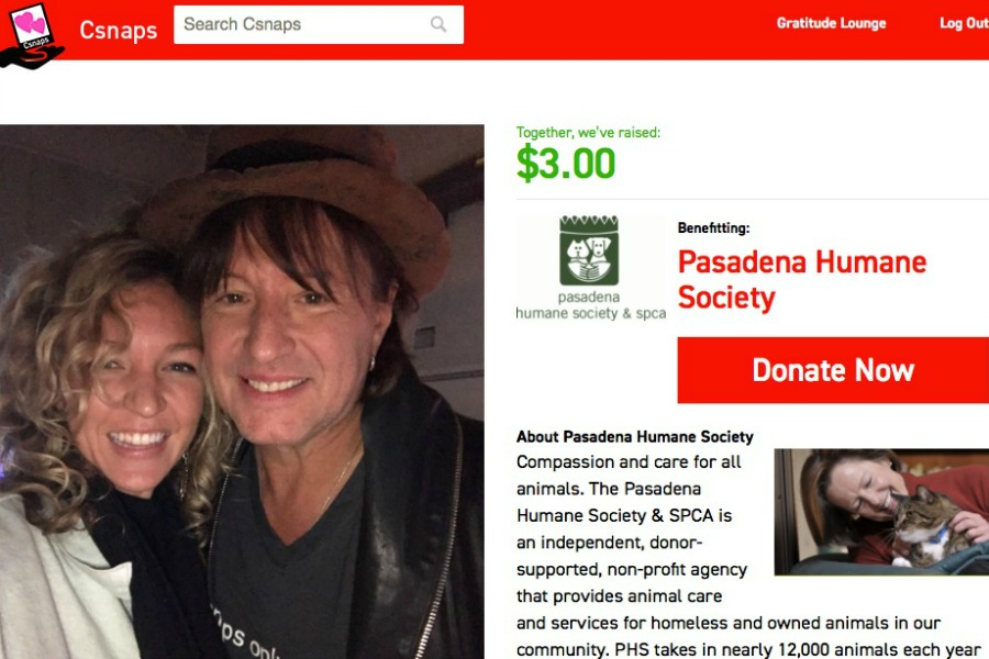 Csnaps lets you take a selfie with a celebrity for charity. (Also: Look! Richie Sambora!)