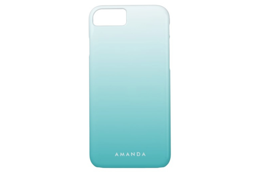 iPhone 8 Cases: Zazzle Turquoise Gradient Ombre