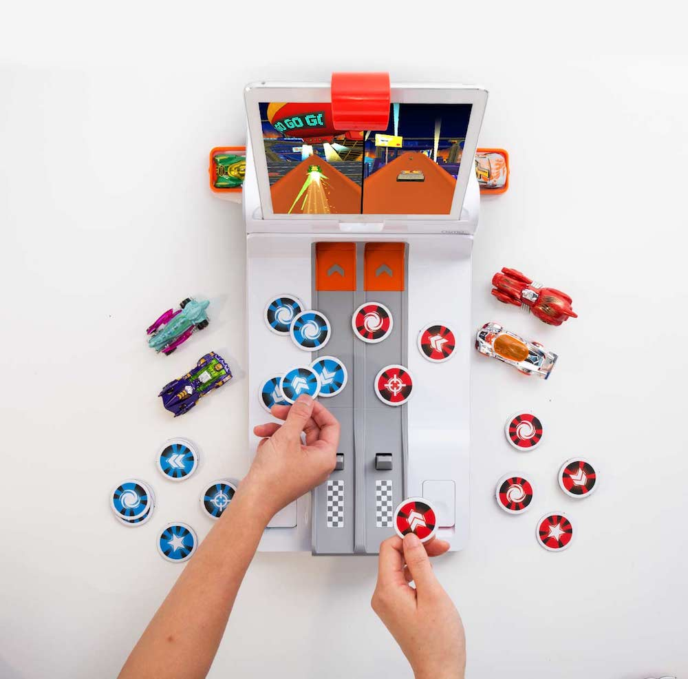 The new Hot Wheels game for Osmo mixes tangible cars with video game play.