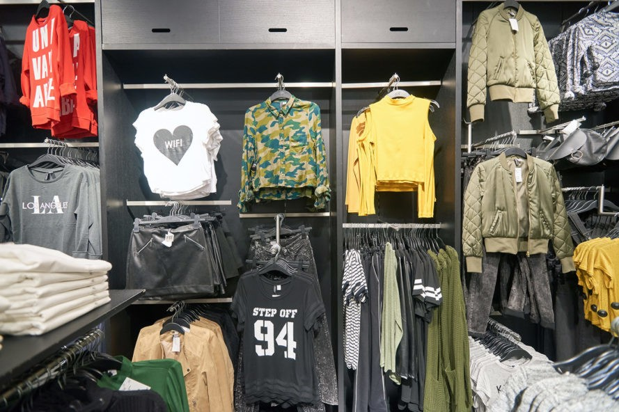 H&M clothing used for fuel